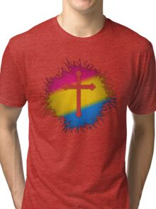 Pansexual Pride Cross Tri-blend T-Shirt