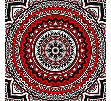 Red and black mandala Photographic Print