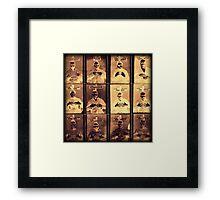 Handy Mugshots Framed Print