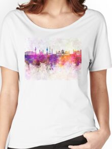 Lahore skyline in watercolor background Women's Relaxed Fit T-Shirt