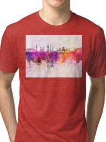 Lahore skyline in watercolor background Tri-blend T-Shirt