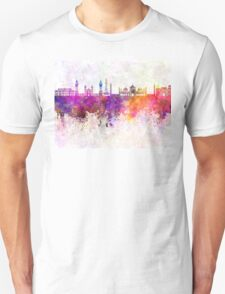 Lahore skyline in watercolor background Unisex T-Shirt
