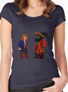Guybrush & LeChuck (Monkey Island 2) Women's Fitted Scoop T-Shirt
