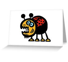 Crazy Bug Greeting Card