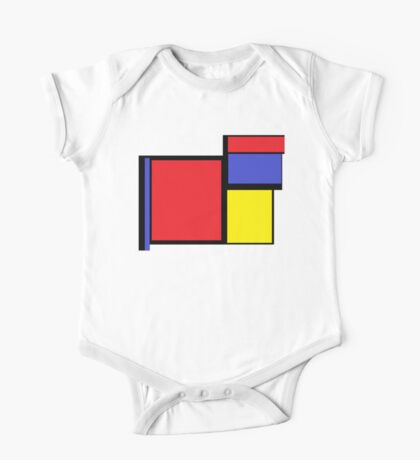 Tribute to 80's Mondrian One Piece - Short Sleeve