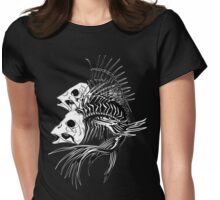 Fish Bones Womens Fitted T-Shirt
