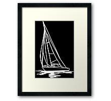 Sailingboat Framed Print