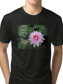 buddha lotus Tri-blend T-Shirt