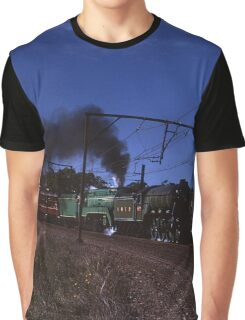 """Flying Scotsman"" & 3801 @ Springwood, Australia 1989 Graphic T-Shirt"
