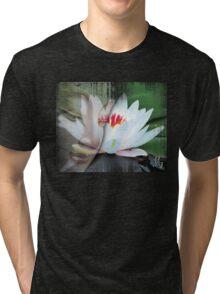 buddha lotus 1 Tri-blend T-Shirt