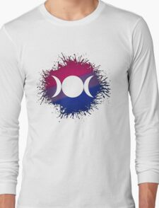 Bisexual Pride Triple Goddess Moon Long Sleeve T-Shirt