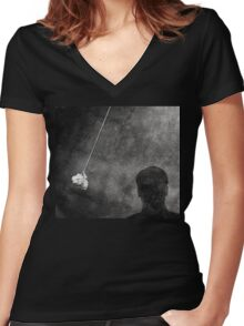 Corporate Personality Test Women's Fitted V-Neck T-Shirt