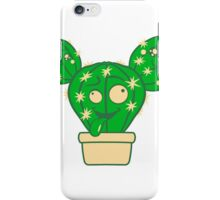 comic face funny crazy cartoon kids babys sweet cute design small beautiful flowerpot green cactus iPhone Case/Skin