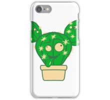 comic face funny crazy cartoon kids babys sweet cute design small beautiful flowerpot green cactus iPhone Case/Skin