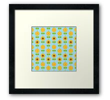 Kawaii Sunflowers Framed Print