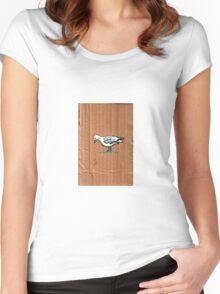 Gulls on Grass, #3 Women's Fitted Scoop T-Shirt