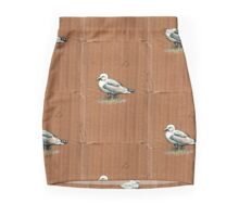 Gulls on Grass, #4 Mini Skirt