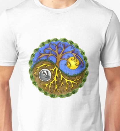 Yin & Yang Tree and Badger Unisex T-Shirt