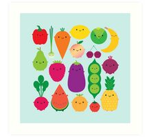 5 A Day Fruit & Vegetables Art Print