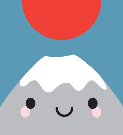 Kawaii Mt Fuji San Sticker