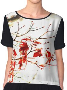 Snowy Maple Abstract Chiffon Top