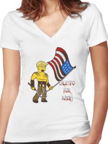 TRUMPO FOR KHAL! Women's Fitted V-Neck T-Shirt