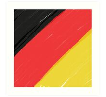 Black, Red and Yellow Art Print