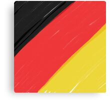 Black, Red and Yellow Canvas Print