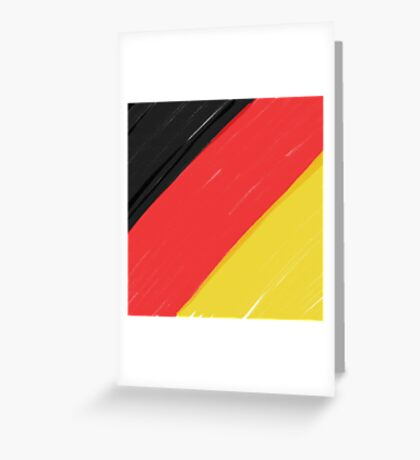 Black, Red and Yellow Greeting Card