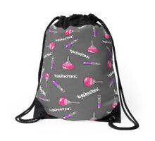 Test-tubes Purple And Pink Drawstring Bag