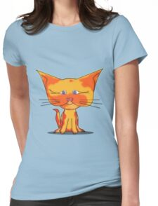 Cute Cat Womens Fitted T-Shirt