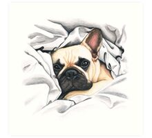 F.I.P. french bulldog - @MiudaFrenchie Art Print