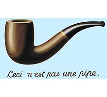 This is not a Pipe  Photographic Print