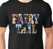 FairyTail Font Characters,Anime Unisex T-Shirt