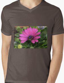 Purple bloom macro Mens V-Neck T-Shirt