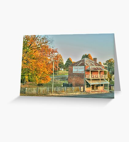 Hill End icon in HDR Greeting Card