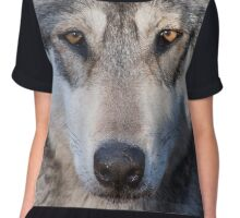 Timber Wolf Chiffon Top