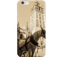 Seville - Giralda in sepia tones iPhone Case/Skin
