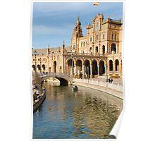 Plaza de Espana river - Seville  Poster