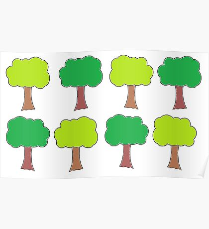 Green Trees Poster