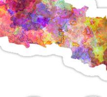 Nepal in watercolor Sticker