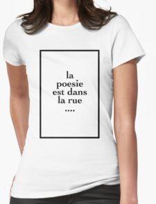 la poesie est dans la rue - The 1975 Womens Fitted T-Shirt
