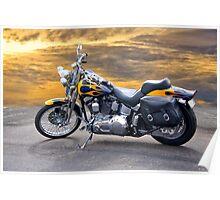 Harley Davidson Softail Motorcycle Poster