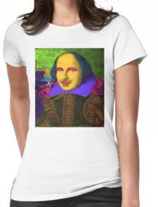 William Shakespeare Pop Art Womens Fitted T-Shirt