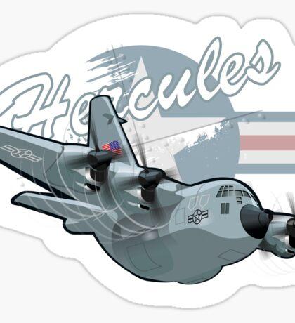 Cartoon Military Cargo Plane Sticker