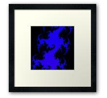 Black & Blue Framed Print