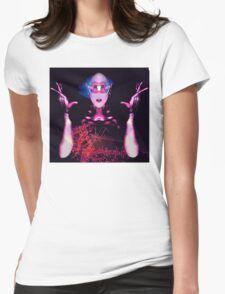 Alien Ghost Womens Fitted T-Shirt