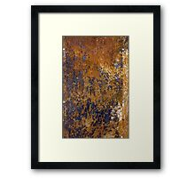 Rusted and Scratched Framed Print