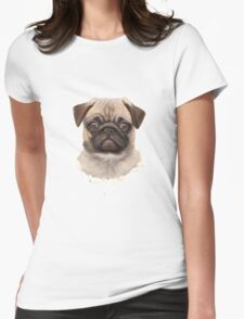 Pug Dog Womens Fitted T-Shirt
