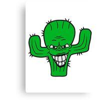 evil vile monster horror halloween demon cactus cartoon comic funny villain face Canvas Print